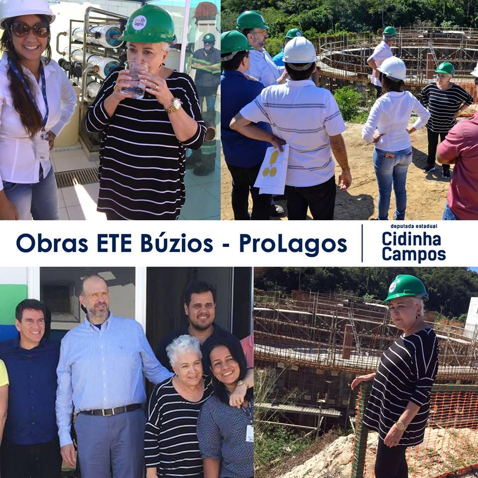 Visita às obras de ampliação da Estação de Tratamento de Esgoto (ETE) de Búzios