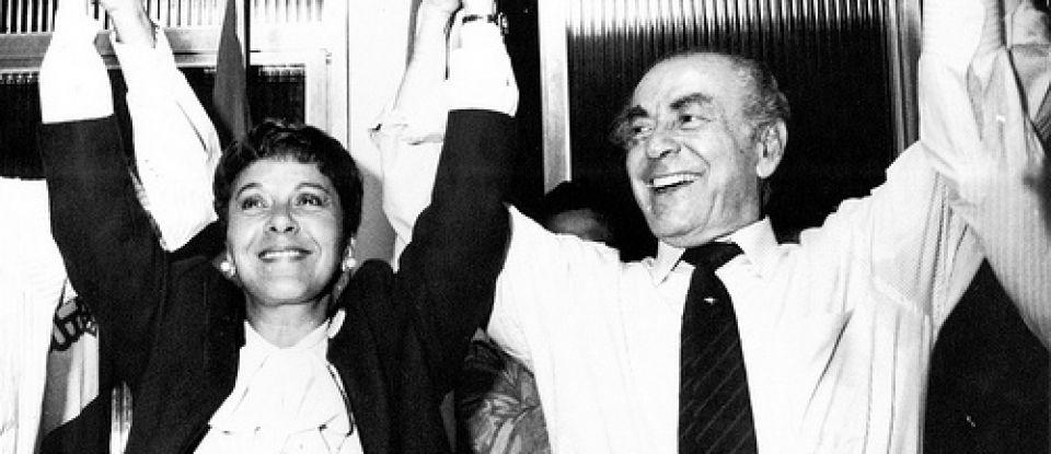 Cidinha com  Leonel Brizola no seu início na vida política
